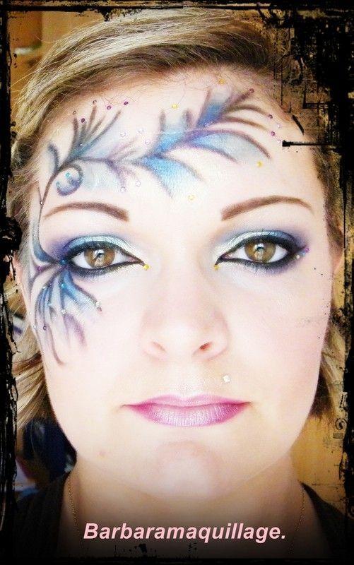 maquillage artistique visage fleur