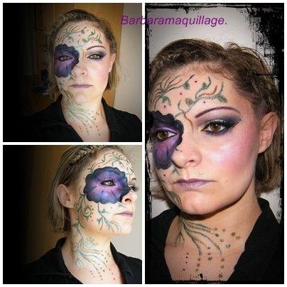 Maquillage artistique(fleur)